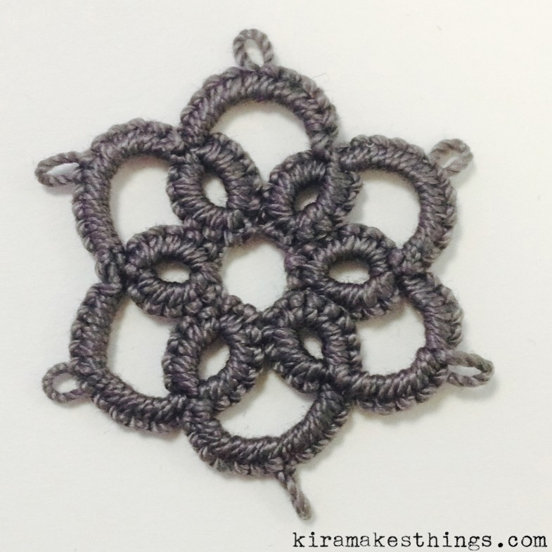 needle tatting - flower