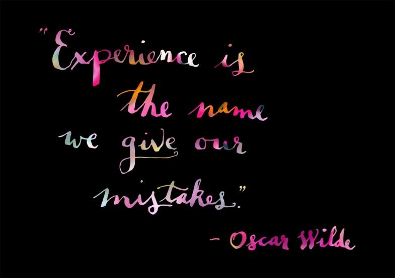 Oscar Wilde - Experience